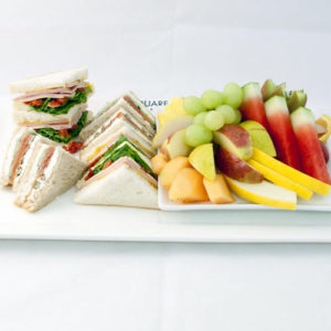 Gourmet Sandwiches & Fruit Platter