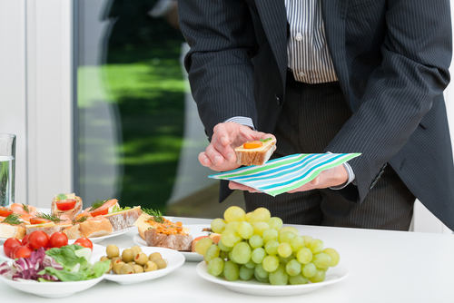 a business person enjoying Office Catering in Sydney