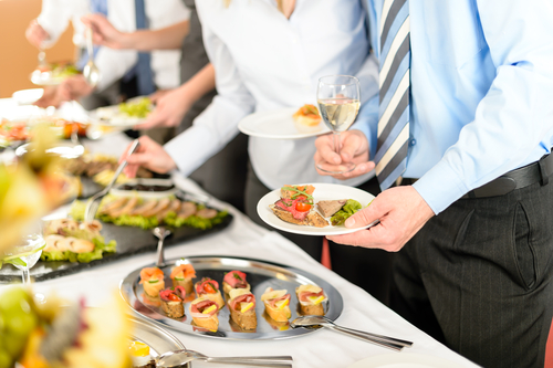 food being served by catering companies in Sydney