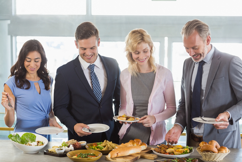 business people enjoying corporate catering services in North Sydney
