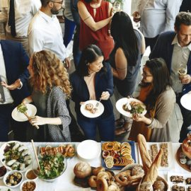 Image of a small group catering by Square Catering