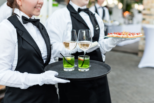 Image of the catering servants in Sydney