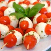 tomato & bocconcini skewes