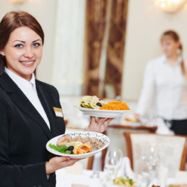 Image of a woman servant for Square Catering in North Sydney