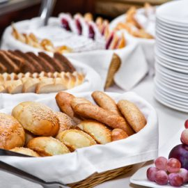 Image of a served breakfast by Square Catering