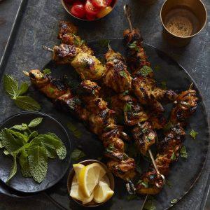 maroccan chicken skewers