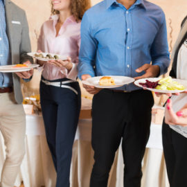 Image of clients enjoying corporate catering services in Sydney