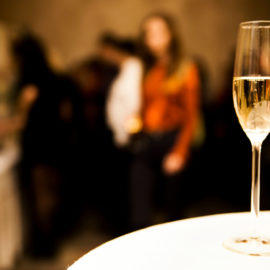 photo of a glass of champagne on the table